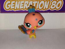 Littlest PetShop Paon Orange Et Bleu N°1462 Pet Shop Bird