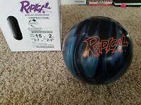 "Radical Conspiracy Pearl 1st Quality 15 Pound Bowling Ball | 2-3"" Pin | 3.7oz TW"
