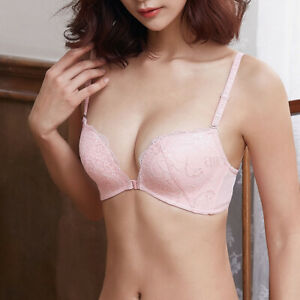 Wireless Misses Bras Front Closure Lingerie Push up bra Brassiere Lady Underwear