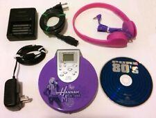 RARE HANNA MONTANA DISNEY 2008 CD PLAYER + HEADPHONES + POWER ADAPTER + CHARGER