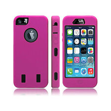 DARK PINK HARD Shock Bullet Proof CASE + Screen Protectors for IPHONE 4 S Safety