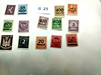 Mint Worldwide stamps lot # G 25 Germany unchecked for value
