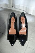 Scarpe nere fiocco vernice MAX&CO black patent bow shoes pumps EU36-37 UK3 -4