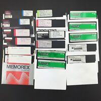 LOT of 17 Vintage 5.25 Floppy Disks - Apple Computer II IIe IIc IIGS Computers