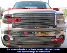 Fits 2007-2011 GMC Sierra 1500 Billet Grille Combo