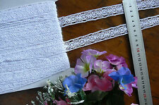 Cluny Cotton Lace WHITE Insert - 20mm wide 3 Metre Lengths