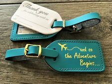 50,caribbean blue, WEDDING escort Luggage Tags (quote#23), in GOLD, $2.35 each
