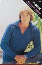 Villawool Men 's Jumper 5ply knitting pattern leaflet no. L617/ sizes 85-105cm.