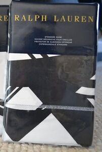 RALPH LAUREN ELLINGTON DECO STANDARD SHAM BLACK/WHITE (1)