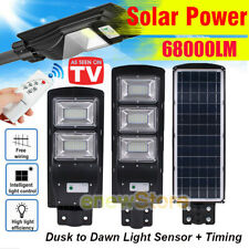 68000LM 90W Solar LED Street Light Outdoor IP67 Area Security Road Lamp Parking