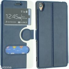 FOR SONY XPERIA Z3 LEATHER CASE COVER FLIP WALLET POUCH BACK DUAL COLOUR FREE SP