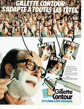 Publicité Advertising 068  1982   rasoir 2  lames Gillette Contour