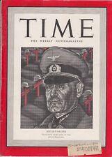 Time 1942 June 29  HITLERS HALDER    WORLD BATTLEFRONTS