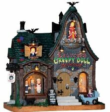 Lemax Spooky Town Halloween Sights & Sounds CREEPY DOLL SHOP Menagerie