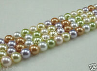 "12mm Natural Multicolor South Sea Shell Pearl Round Gems Loose Beads 15"" AAA"