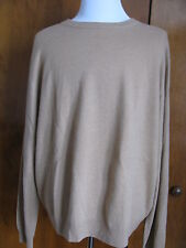 Bloomingdales men's camel cashmere crewneck sweater Size XXL NWT