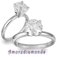 2.02 ct round brilliant cut natural diamond solitaire engagement ring platinum
