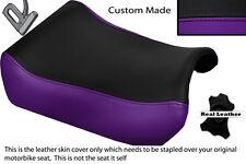 PURPLE & BLACK CUSTOM FITS SUZUKI GSXR 1100 89-98 FRONT LEATHER SEAT COVER