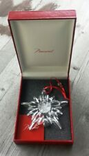 Baccarat 2013 Clear Crystal Snowflake Ornament, Boxed - New