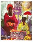 AFRICAN+AMERICAN+%27%27FRUIT+VENDORS%27+PRINT+WATER+COLOR+BUCHI+UPJOHN+NEW+SIZE+8+X+10