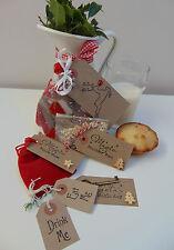 Christmas Eve Box Filler Bag, Xmas Eve Kit Santa Key Reindeer Food & Dust Bundle