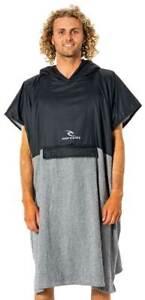 Rip Curl Viral Anti-Series Hooded Towel - Black / Grey - New