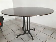 table  ....forme libre plateau  ..réversible... laminé noir..60's  italie