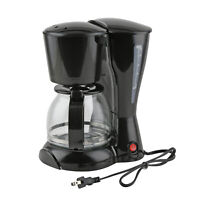 Black 12 Cup Express Coffee Maker Keep Warm Function Easy Brewing Cleaning