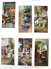 """Six Vintage German Advertising Cards by """"B.Sprengel & Co. for Chocolate (A) *"""