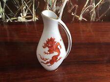 PGH peint à la main - Rouge Dragon - noble petite vase