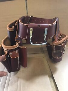 New Occidental Strong Leather Work Tool Belt Electricians, Carpenters Belt Pouch