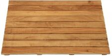 Natural Teak Bathroom Shower Mat 18 in. x 25 in. Steam Room Spa Floor Sturdy