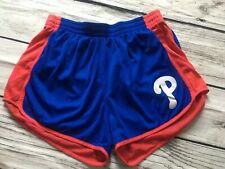 VIctorias Secret PINK MLB Philadelphia PHILLIES ATHLETIC SHORTS XS Blue Red