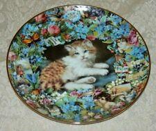 Danbury Mint 1995 Sweet Remembrance Plate Victoria Howard Victorian Cats Kitten