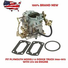 New Carb Fit Dodge MOPAR-273-318-ENGINE-2BBL-CARTER CARBURETOR-1966-1973