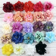 """25/50P 3"""" Artificial Silk Rose Peony Flower Heads for Craft Wedding Party Decor"""