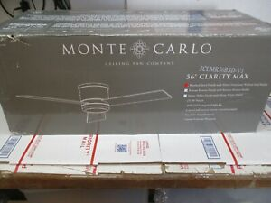 "MONTE CARLO 56"" CLARITY MAX CEILING FAN 3CLMR56BSD-V1 BRAND NEW FAST SHIPPING"