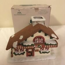 Partylite Edelweiss Christmas Village Tealight Candle Votive Holder P0308 w/ Box