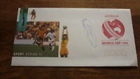 ENGLAND CRICKET CAPTAIN ALEC STEWART HAND SIGNED 1992 WORLD CUP COVER
