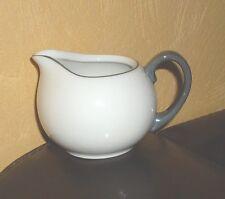 TCM 1 Milchkännchen weiß, grauer Rand