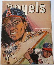 1972 California Angels vs. Chicago White Sox Program Dick Allen Ryan Melton