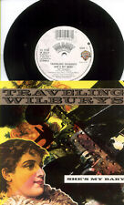 BEATLES Re TRAVELING WILBURYS 1990 She's My Baby UK 45 & PS PICTURE SLEEVE Dylan