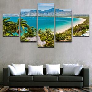 Nature Seascape Port Douglas Sea Beach Scenery Canvas Print Painting Wall Art 5P