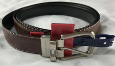 AUTHENTIC  TOMMY HILFIGER Mens Brown / Black REVERSABLE Leather Belt SIZE 36""