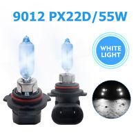 2PCS REPLACEMENT Original 9012 HIR2 55W Halogen Headlamp Headlight Bulb PX22D