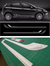 Fiat grande Punto Sport abarth Side Stripes Graphics Decals Stickers