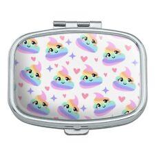 Cute Rainbow Poop Pattern Rectangle Pill Case Trinket Gift Box