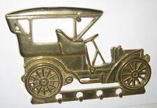Schlüsselhaken Schlüsselleiste Wandhaken Auto Oldtimer Messing 5 kl. Haken 18cm