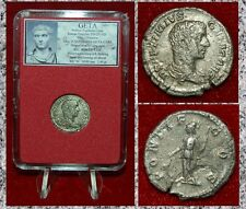 Ancient Roman Empire Coin GETA Minerva With Spear On Reverse Silver Denarius
