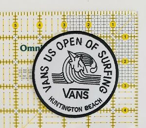 """Vans US Open Of Surfing Iron On Patch Huntington Beach CA 3.5"""" Surf Skate"""